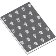 Skull Pattern Silver Large Memo Pads