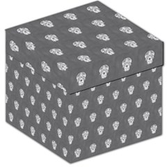 Skull Pattern Silver Storage Stool 12