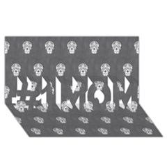 Skull Pattern Silver #1 Mom 3d Greeting Cards (8x4)