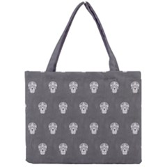 Skull Pattern Silver Tiny Tote Bags