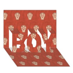 Skull Pattern Terra BOY 3D Greeting Card (7x5)