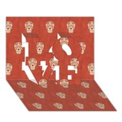 Skull Pattern Terra LOVE 3D Greeting Card (7x5)