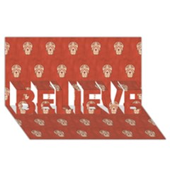 Skull Pattern Terra Believe 3d Greeting Card (8x4)