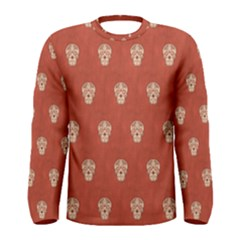 Skull Pattern Terra Men s Long Sleeve T Shirts