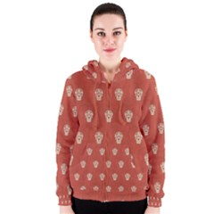 Skull Pattern Terra Women s Zipper Hoodies