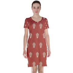 Skull Pattern Terra Short Sleeve Nightdresses