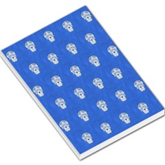 Skull Pattern Inky Blue Large Memo Pads