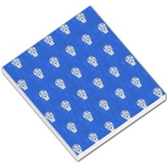 Skull Pattern Inky Blue Small Memo Pads