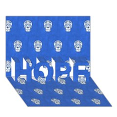 Skull Pattern Inky Blue Hope 3d Greeting Card (7x5)