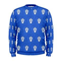 Skull Pattern Inky Blue Men s Sweatshirts