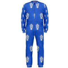 Skull Pattern Inky Blue OnePiece Jumpsuit (Men)