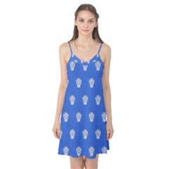 Skull Pattern Inky Blue Camis Nightgown