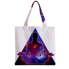 Deep Meditation Zipper Grocery Tote Bags