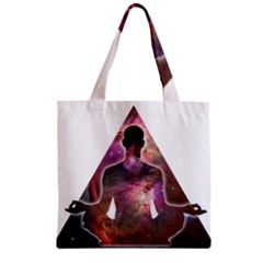 Deep Meditation #2 Zipper Grocery Tote Bags