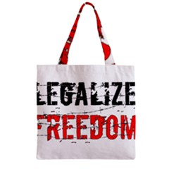 Legalize Freedom Zipper Grocery Tote Bags