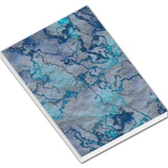 Marbled Lava Blue Large Memo Pads