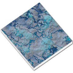 Marbled Lava Blue Small Memo Pads