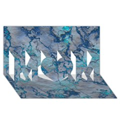 Marbled Lava Blue Mom 3d Greeting Card (8x4)