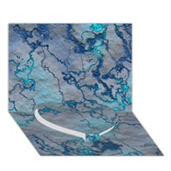 Marbled Lava Blue Heart Bottom 3d Greeting Card (7x5)