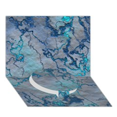 Marbled Lava Blue Circle Bottom 3D Greeting Card (7x5)