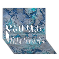 Marbled Lava Blue YOU ARE INVITED 3D Greeting Card (7x5)
