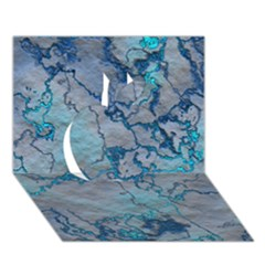 Marbled Lava Blue Apple 3D Greeting Card (7x5)