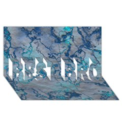 Marbled Lava Blue BEST BRO 3D Greeting Card (8x4)