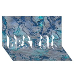 Marbled Lava Blue Best Sis 3d Greeting Card (8x4)