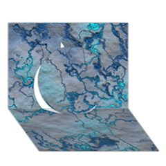 Marbled Lava Blue Circle 3D Greeting Card (7x5)