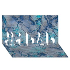 Marbled Lava Blue #1 Dad 3d Greeting Card (8x4)