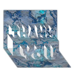 Marbled Lava Blue THANK YOU 3D Greeting Card (7x5)