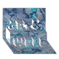 Marbled Lava Blue Get Well 3D Greeting Card (7x5)
