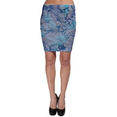 Marbled Lava Blue Bodycon Skirts
