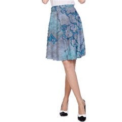 Marbled Lava Blue A-Line Skirts