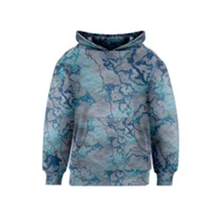 Marbled Lava Blue Kid s Pullover Hoodies