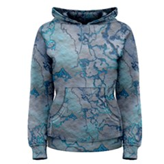 Marbled Lava Blue Women s Pullover Hoodies
