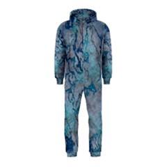 Marbled Lava Blue Hooded Jumpsuit (kids)