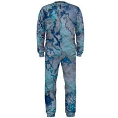 Marbled Lava Blue OnePiece Jumpsuit (Men)