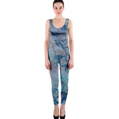Marbled Lava Blue OnePiece Catsuits
