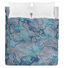 Marbled Lava Blue Duvet Cover (full/queen Size)