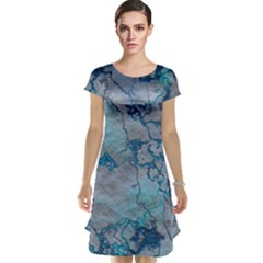 Marbled Lava Blue Cap Sleeve Nightdresses