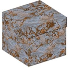 Marbled Lava Orange Storage Stool 12