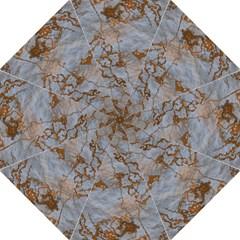 Marbled Lava Orange Hook Handle Umbrellas (large)