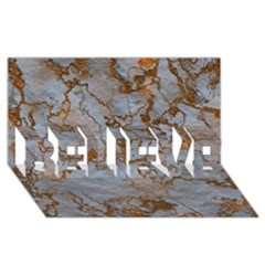 Marbled Lava Orange Believe 3d Greeting Card (8x4)