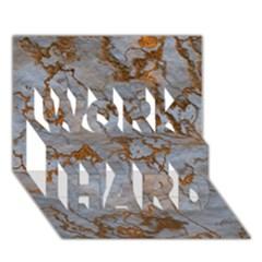 Marbled Lava Orange WORK HARD 3D Greeting Card (7x5)