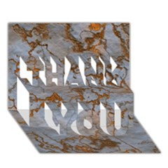Marbled Lava Orange THANK YOU 3D Greeting Card (7x5)