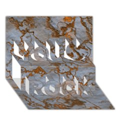 Marbled Lava Orange You Rock 3D Greeting Card (7x5)