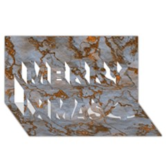 Marbled Lava Orange Merry Xmas 3d Greeting Card (8x4)