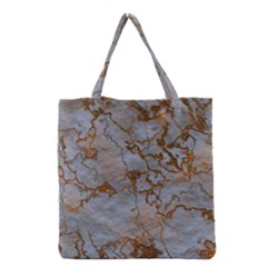 Marbled Lava Orange Grocery Tote Bags