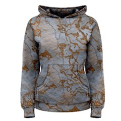 Marbled Lava Orange Women s Pullover Hoodies